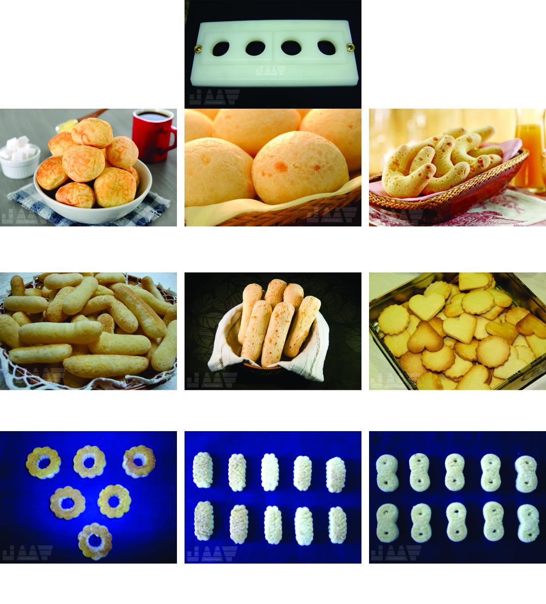Matrizes / Moldes para Pão de Queijo, Biscoito de Queijo e Biscoito Doce (Amanteigado)