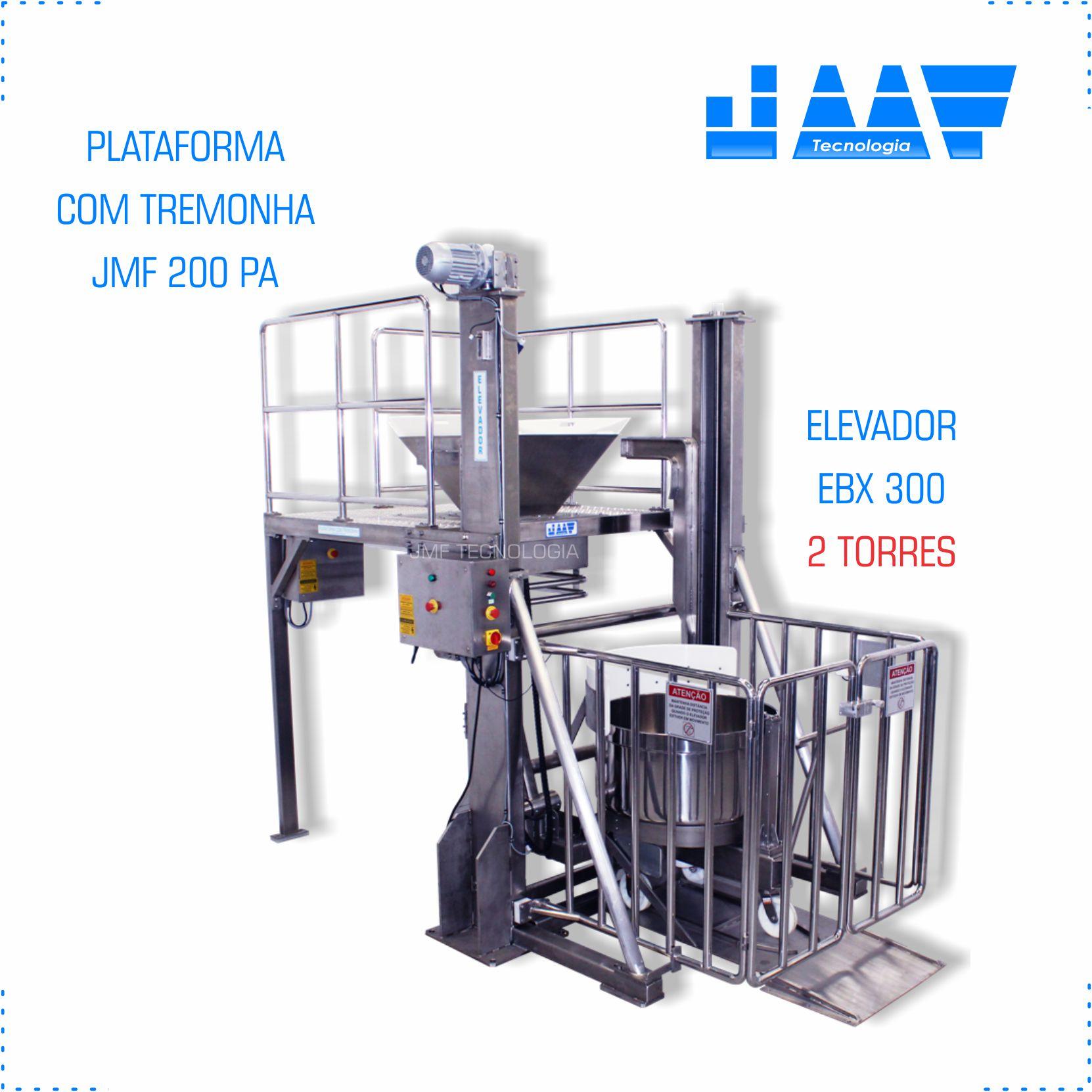Elevador de Cuba e Plataforma com Tremonha (conjunto)