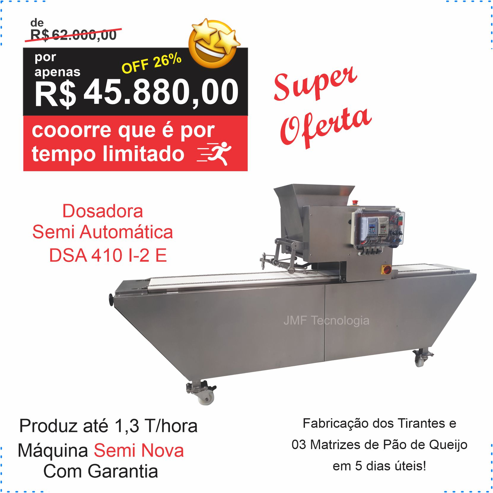 Dosadora Semi Automática INOX modelo DSA 410 I-2 E – Semi Nova